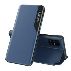 Husa iPhone 12 Pro Max Eco Leather View Flip Tip Carte - Albastru
