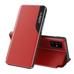 Husa iPhone 12 Pro Max Eco Leather View Flip Tip Carte - Rosu
