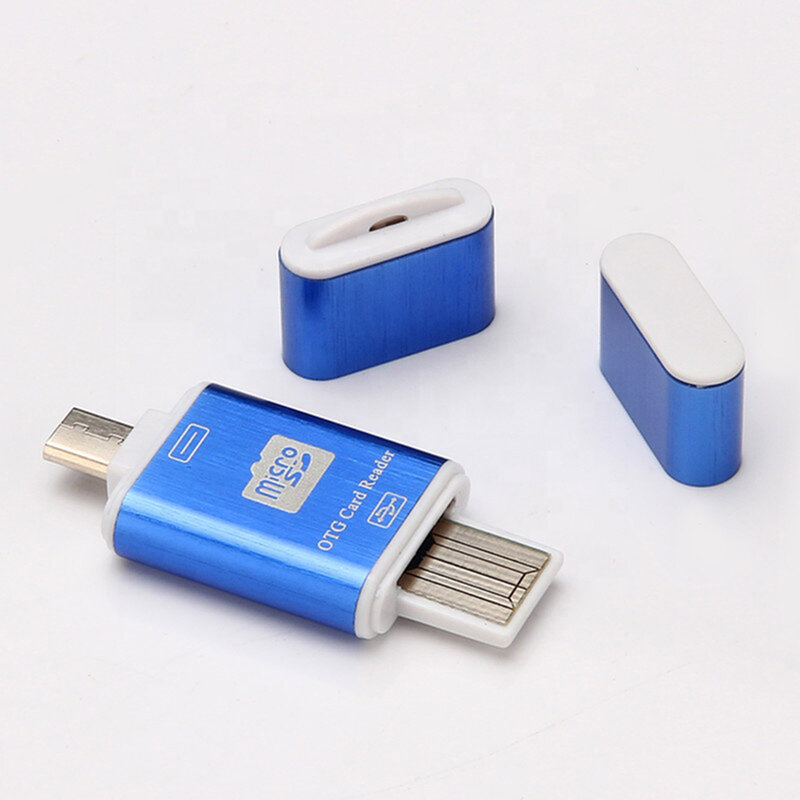 Card Reader OTG High-speed USB 2.0 + Micro-USB - CRM004 - Turcoaz