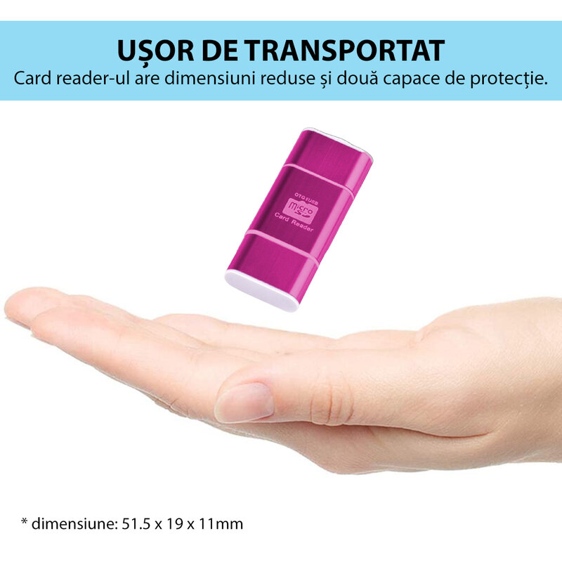Card Reader OTG High-speed USB 2.0 + Micro-USB - CRM004 - Roz