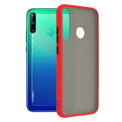 Husa Huawei Y7p Mobster Chroma Cu Butoane Si Margini Colorate - Rosu
