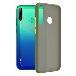 Husa Huawei Y7p Mobster Chroma Cu Butoane Si Margini Colorate - Verde Deschis
