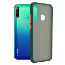 Husa Huawei Y7p Mobster Chroma Cu Butoane Si Margini Colorate - Verde Inchis