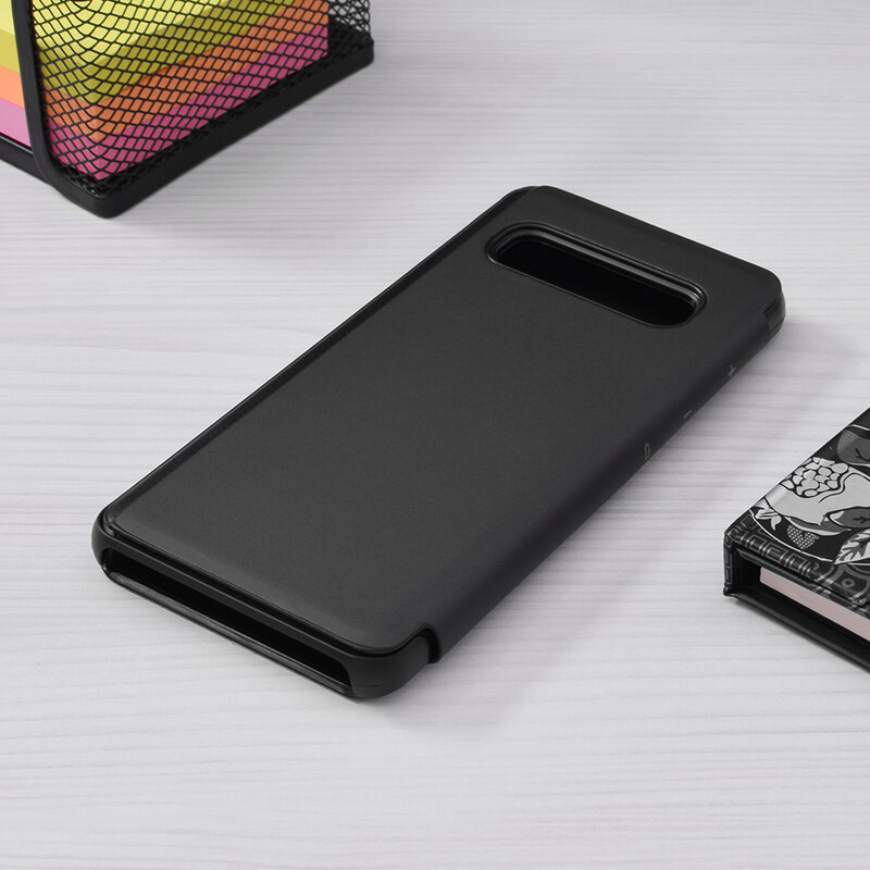 Husa Samsung Galaxy S10 Flip Standing Cover - Black