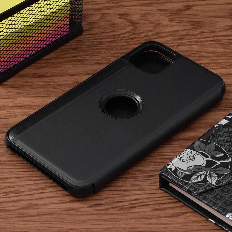 Husa iPhone 11 Pro Max Flip Standing Cover - Black