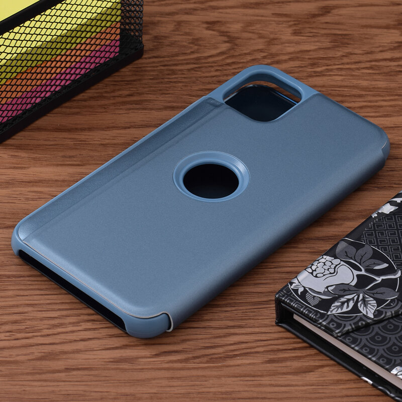 Husa iPhone 11 Pro Max Flip Standing Cover - Blue
