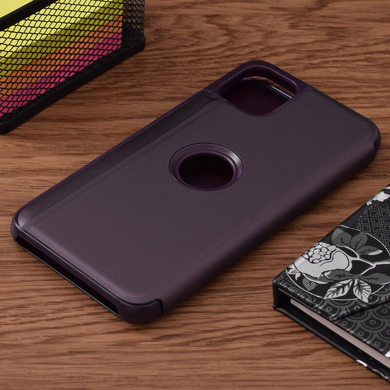 Husa iPhone 11 Pro Max Flip Standing Cover - Purple