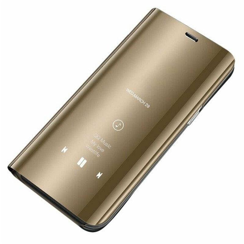 Husa Samsung Galaxy A20e Flip Standing Cover - Gold