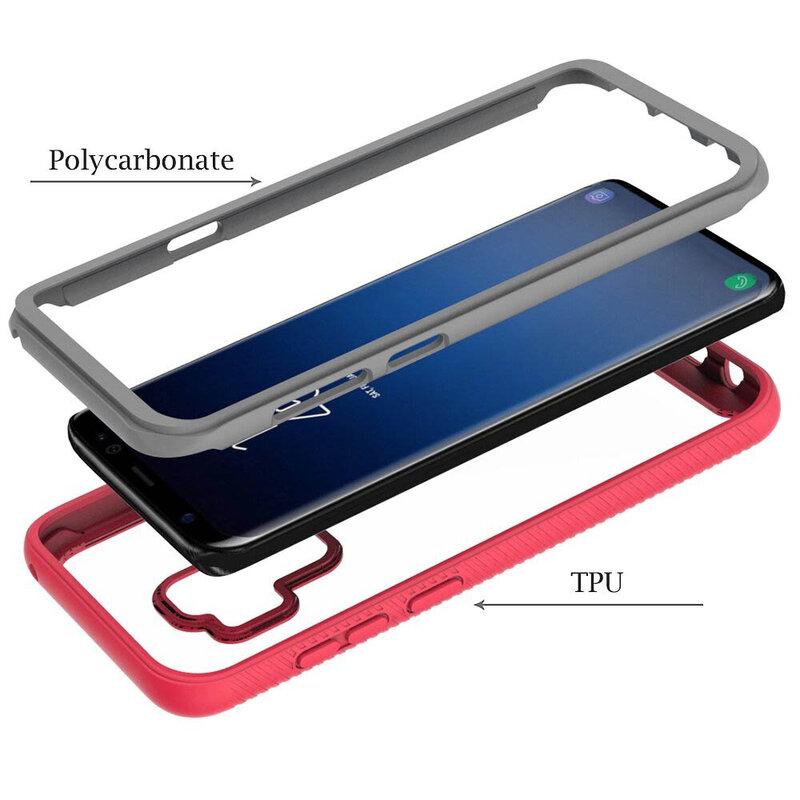 [Pachet 360°] Husa + Folie Samsung Galaxy S9 Plus Techsuit Defense, Negru