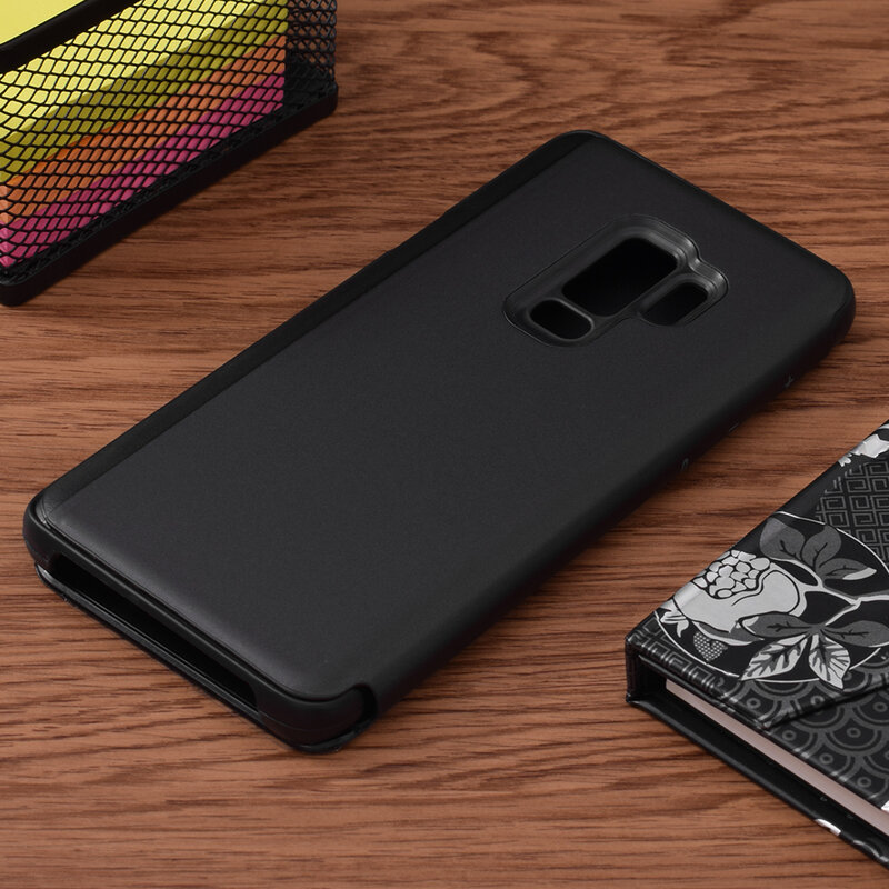 Husa Samsung Galaxy S9 Plus Flip Standing Cover - Black