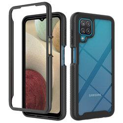 [Pachet 360°] Husa + Folie Samsung Galaxy A12 Techsuit Defense, Negru