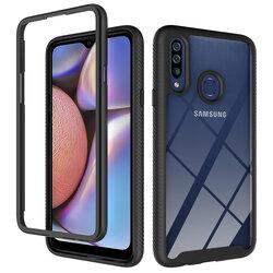 [Pachet 360°] Husa + Folie Samsung Galaxy A20s Techsuit Defense, Negru