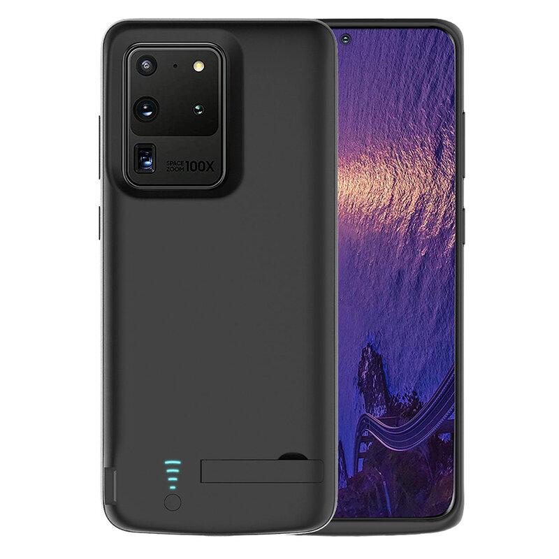 Husa cu baterie Samsung Galaxy S20 Ultra 5G Techsuit Power Pro, 6000mAh, negru