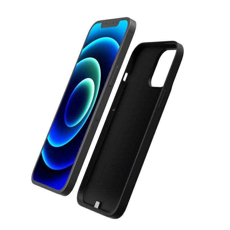 Husa cu baterie iPhone 12 Techsuit Power Pro, 5000mAh, negru