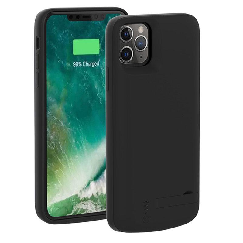 Husa cu baterie iPhone 11 Pro Max Techsuit Power Pro, 6000mAh, negru