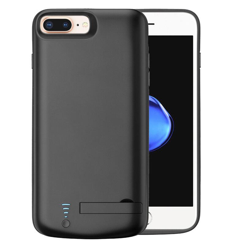 Husa cu baterie iPhone 7 Plus Techsuit Power Pro, 8000mAh, negru