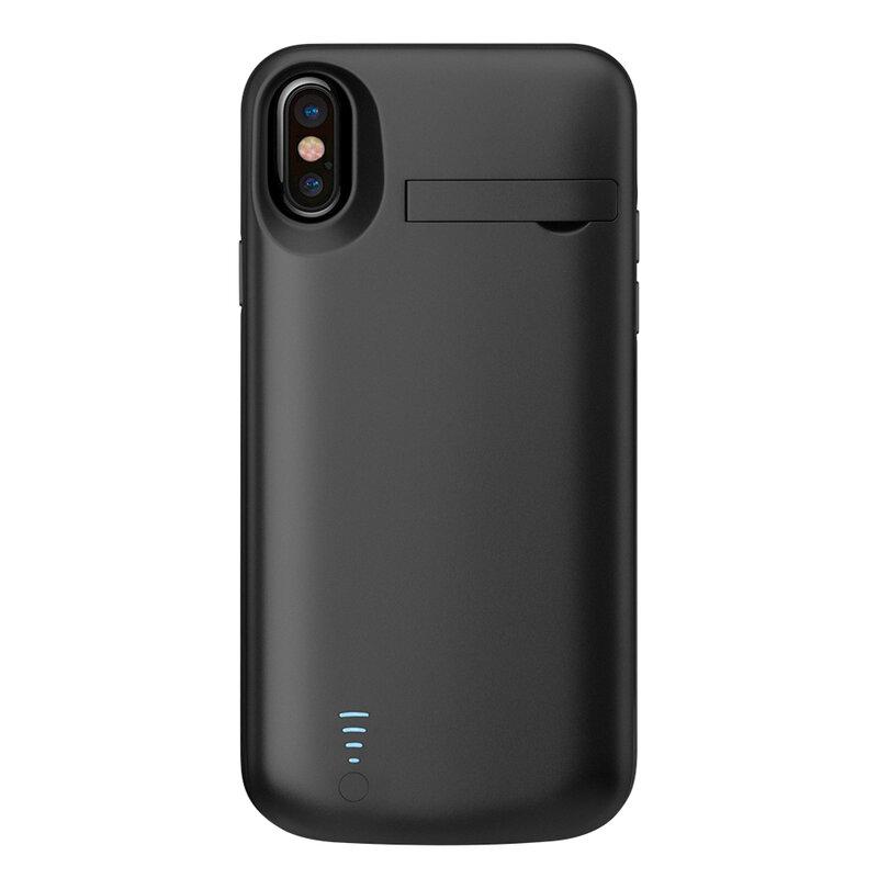 Husa cu baterie iPhone XS Techsuit Power Pro, 5000mAh, negru