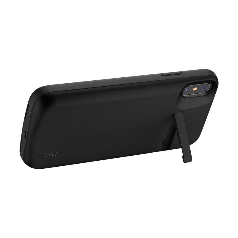 Husa cu baterie iPhone XS Max Techsuit Power Pro, 6000mAh, negru