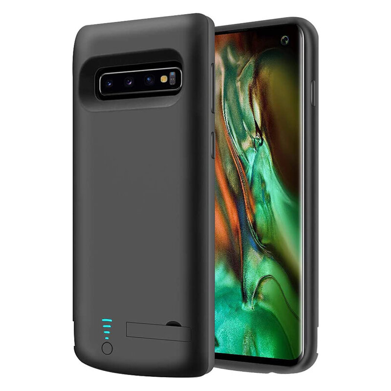 Husa cu baterie Samsung Galaxy S10 Techsuit Power Pro, 6000mAh, negru