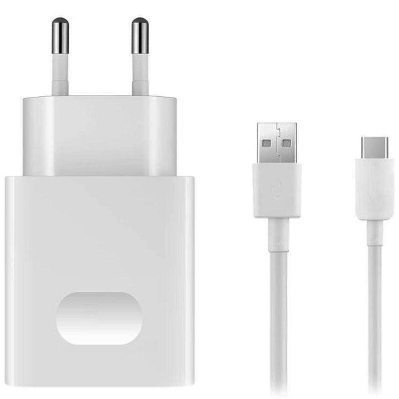 Incarcator priza Huawei original, cablu de date USB la Type-C, 2A, 1m, alb, bulk, HW-050200E02