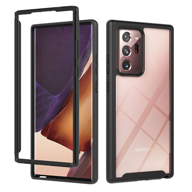 [Pachet 360°] Husa + Folie Samsung Galaxy Note 20 Ultra Techsuit Defense, Negru