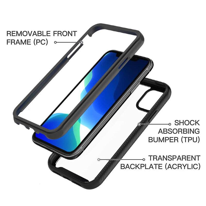 [Pachet 360°] Husa + Folie iPhone 11 Techsuit Defense, Negru