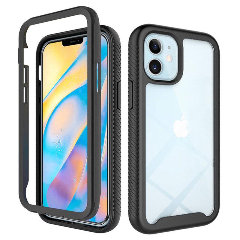 [Pachet 360°] Husa + Folie iPhone 12 mini Techsuit Defense, Negru