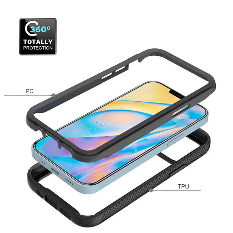[Pachet 360°] Husa + Folie iPhone 12 Techsuit Defense, Negru