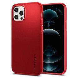 Husa iPhone 12 Pro Spigen Thin Fit - Rosu