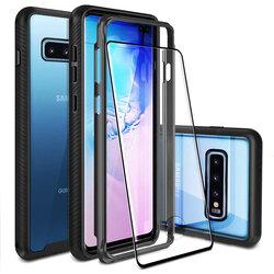 [Pachet 360°] Husa + Folie Samsung Galaxy S10 Plus Techsuit Defense, Negru