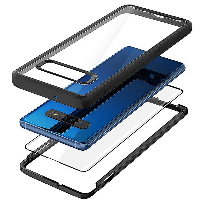 [Pachet 360°] Husa + Folie Samsung Galaxy S10 Techsuit Defense, Negru