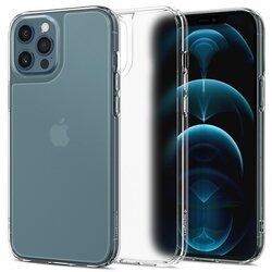 Husa iPhone 12 Pro Max Spigen Quartz Hybrid, transparent mat