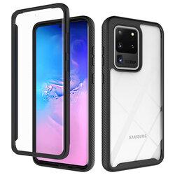 [Pachet 360°] Husa + Folie Samsung Galaxy S20 Ultra Techsuit Defense, Negru