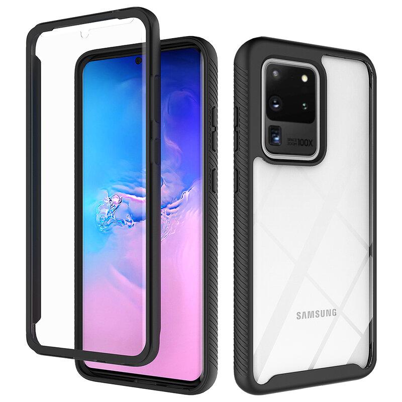 [Pachet 360°] Husa + Folie Samsung Galaxy S20 Ultra 5G Techsuit Defense, Negru