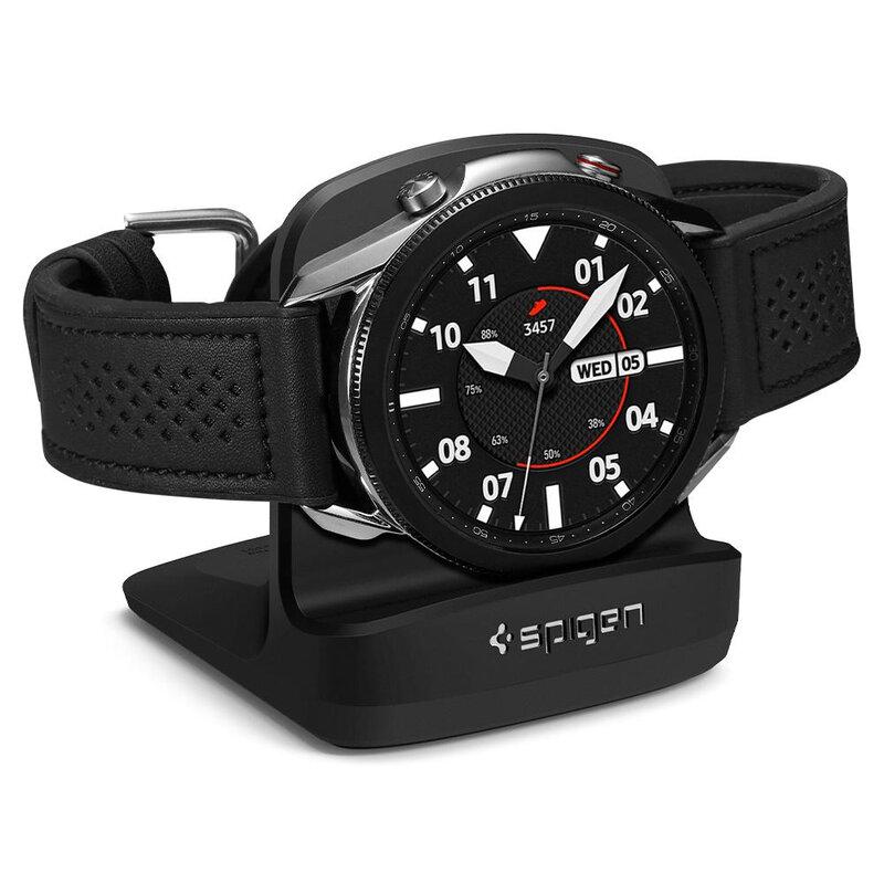 Suport incarcator Samsung Galalxy Watch 3 41/ 45mm Spigen S352, negru