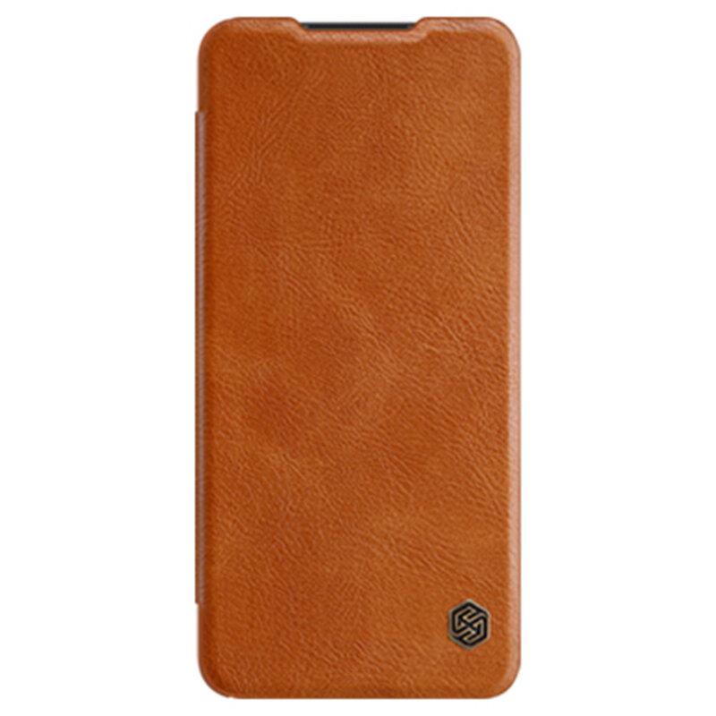 Husa Samsung Galaxy A12 Nillkin QIN Leather - Maro