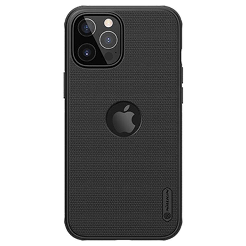 Husa iPhone 12 Pro Max Nillkin Super Frosted Shield, compatibila MagSafe - Black