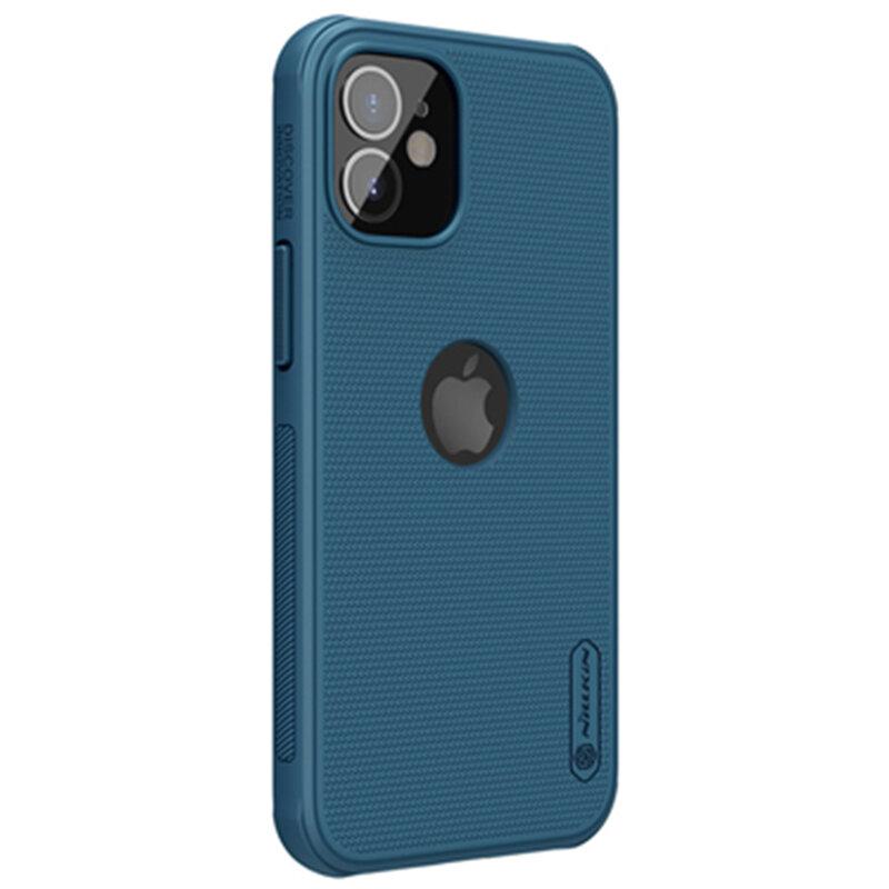 Husa iPhone 12 mini Nillkin Super Frosted Shield, compatibila MagSafe - Blue