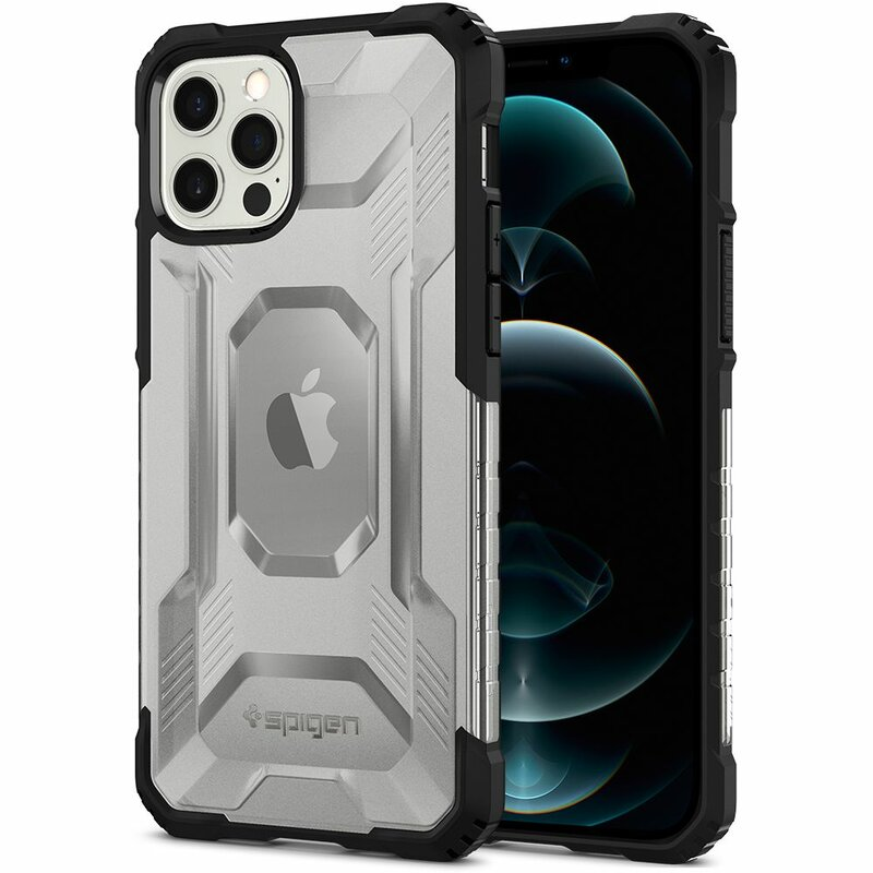 Husa iPhone 12 Pro Spigen Nitro Force, negru