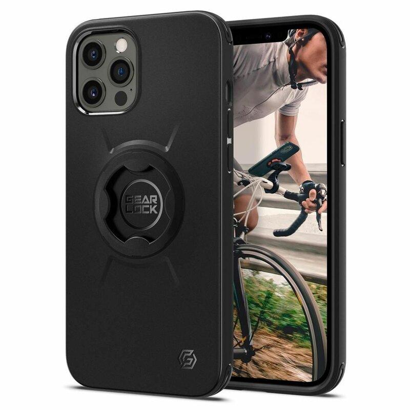Husa Suport Bicicleta iPhone 12 Pro Max Spigen Gearlock Bike Mount Case  GCF131- Black