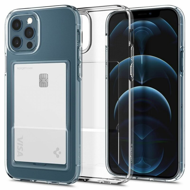 Husa iPhone 12 Pro Max Spigen Crystal Slot, transparent