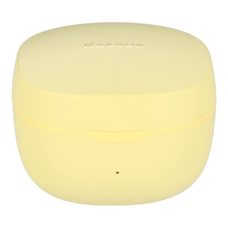 Casti wireless in-Ear Baseus WM01, TWS earbuds, galben, NGWM01-0Y