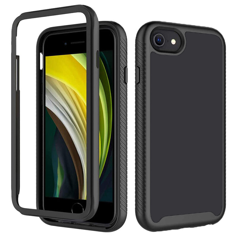 [Pachet 360°] Husa + Folie iPhone 5 / 5s / SE Techsuit Defense, Negru