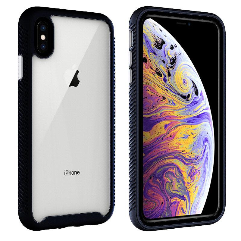 [Pachet 360°] Husa + Folie iPhone XS Techsuit Defense, Negru