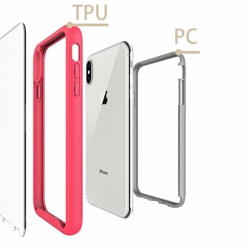 [Pachet 360°] Husa + Folie iPhone XS Max Techsuit Defense, Negru