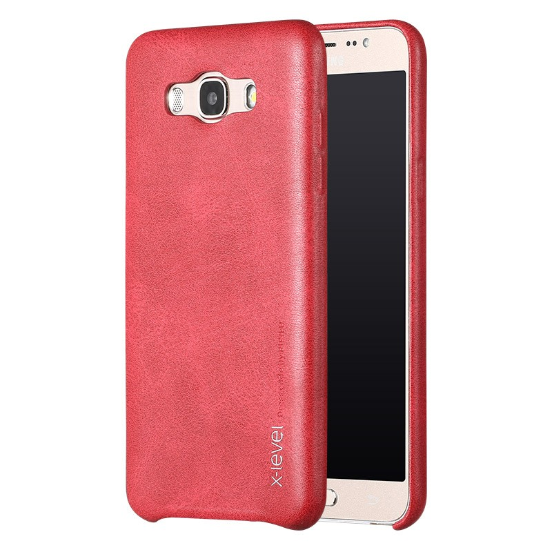 Husa Samsung Galaxy J5, 2016 J510 X-Level Vintage Classic Leather - Red