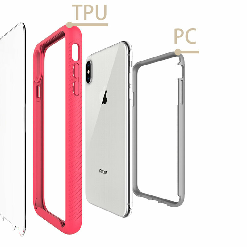 [Pachet 360°] Husa + Folie iPhone 8 Plus Techsuit Defense, Negru