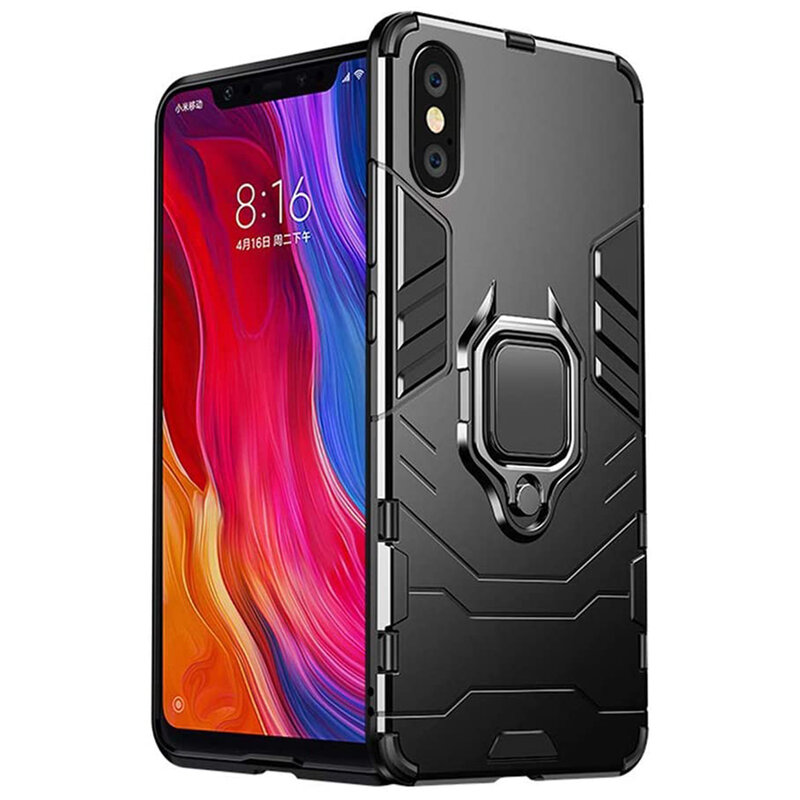 Husa iPhone XS Max Techsuit Silicone Shield, Negru