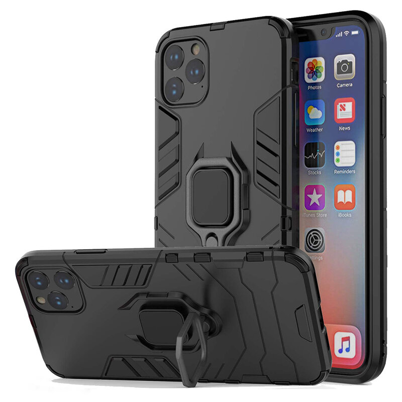 Husa iPhone 11 Pro Techsuit Silicone Shield, Negru