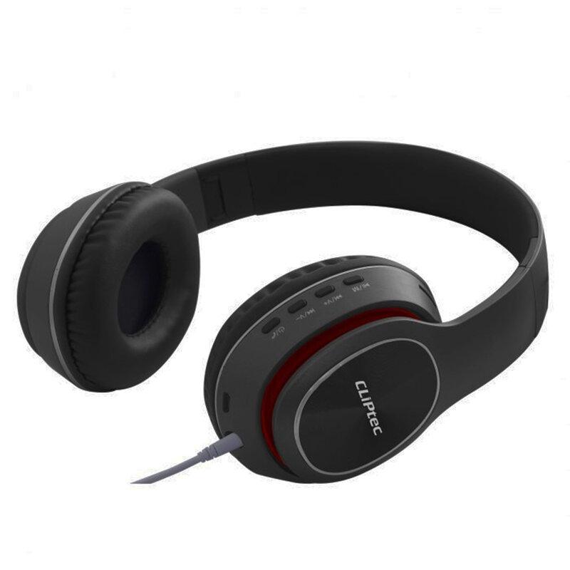 Casti wireless on-ear stereo CLIPtec, Bluetooth, negru, BBH506
